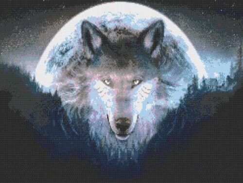 SPIRIT OF THE WOLF # 3 CROSS STITCH CHART