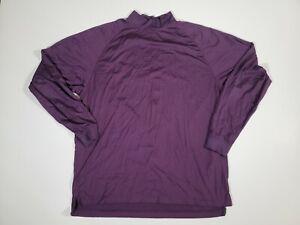 Footjoy FJ Mens Mock Neck Stretch Shirt Long Sleeve Purple Size XL
