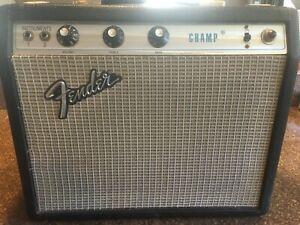 Fender Champ Amp Vintage 1973 Silverface, great shape, original, FREE SHIPPING