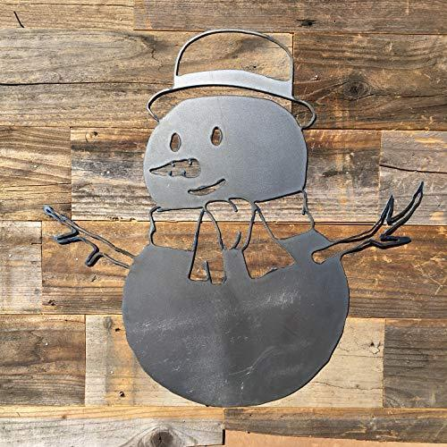 Rustic Home Snowman Sign 20 X 20 Farmhouse Kitchen Wall Decor Christmas Holiday For Sale Online