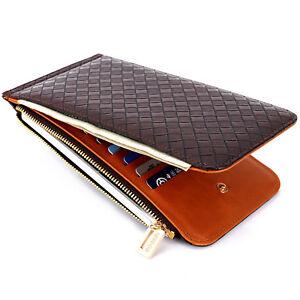 promo code b8cfa 3250a Details about Leather Men's Purse Card Mobile Phone Pocket Women's Zipper  Money Clip Wallet