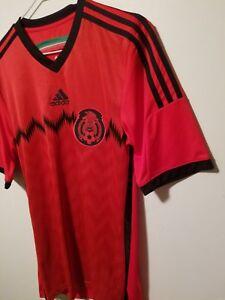 8711416d5 Adidas MEXICO 2014 World Cup Away Soccer Jersey Football Shirt ...
