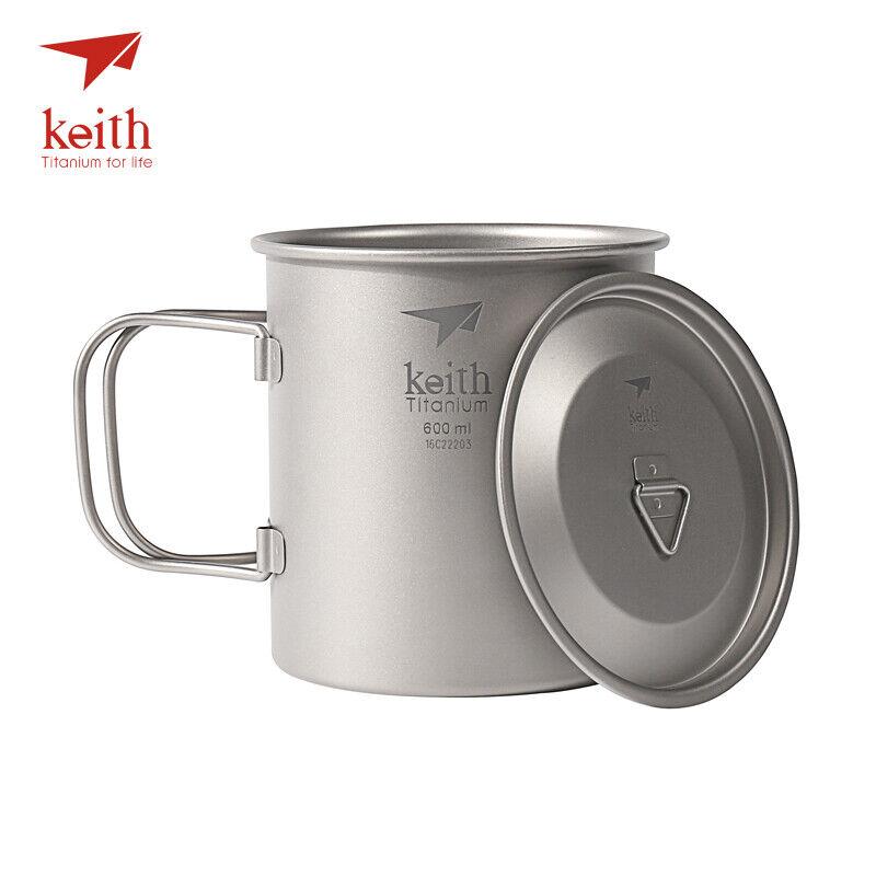 KEITH 600  Titanium  Water Cup  Picnic Camping Cookware Hiking Titanium Mug  best fashion