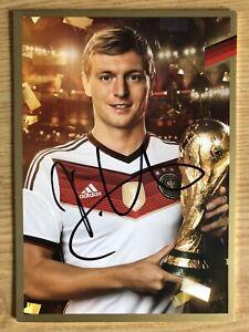 Toni-Kroos-Ak-DFB-2014-Gold-Edition-Tarjeta-Autografiada-Original-Firmado