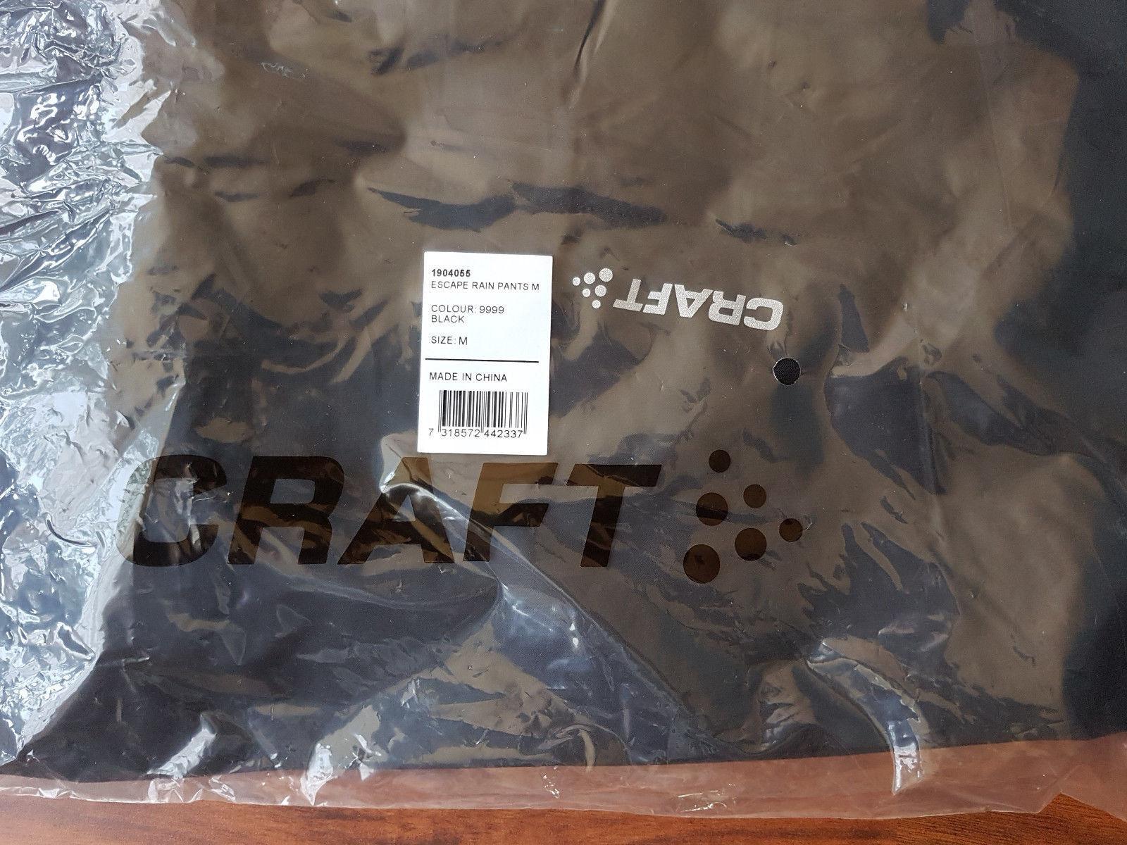 Craft Escape Reflektoren Rain Pants Regenhose mit Reflektoren Escape Größe M wasserdicht winddicht c644cb