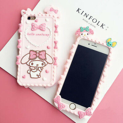 New Cute Cartoon Melody Soft Silicone Case Cover for iPhone 5S 6 6S Plus