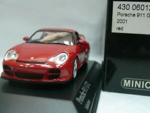 Wow extrêmement rare Porsche 996 911 2001 Gt2 462hp rouge 1:43 Minichamps-gt3-spark 4012138070820