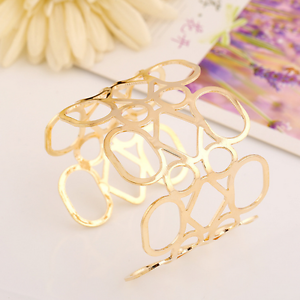 Creative-Simple-Women-Gold-Hollow-Geometric-Punk-Open-Cuff-Bangle-Wide-Bracelet