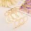 Creative-Simple-Women-Gold-Hollow-Geometric-Punk-Open-Cuff-Bangle-Wide-Bracelet thumbnail 1