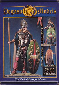 PEGASO MODELS 54-182 - CELTIC WARRIOR III-II CENTURY - 54mm WHITE METAL NUOVO