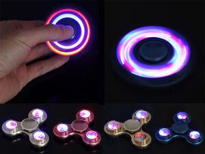 Aluminum Fidget Spinner Led Flash Hand Finger Focus Edc