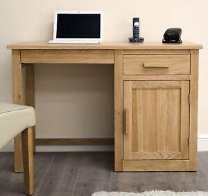 Arden-solid-oak-furniture-single-pedestal-office-PC-computer-desk