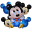 Disney-Mickey-Minnie-Mouse-Birthday-Balloon-Foil-Latex-1st-Birthday-Baby-Shower thumbnail 18