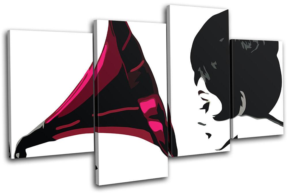 Pop Art  Gramophone Gramophone Gramophone Woman Abstract MULTI TELA parete arte foto stampa 8d81d3