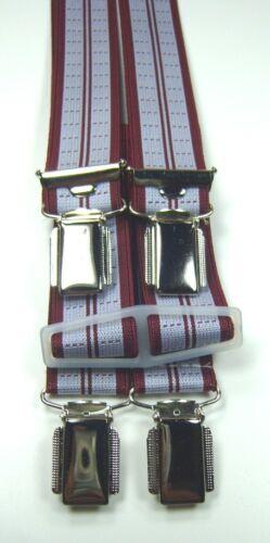 mit 4 starken Clips,25mm breit 70-200 cm lang Hosenträger,grau Betttuchspanner