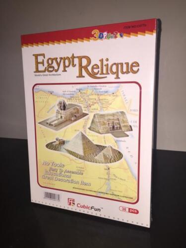 CubicFun 3D Puzzle EGYPT RELIQUE Pyramids Abu Simbel 38 Pieces Sealed Sphinx