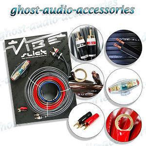 vibe 8 awg gauage slick vsawk8 v1 1500w amp amplifier wiring kit rh m ebay ie vibe wiring kit fuse vibe wiring kit halfords