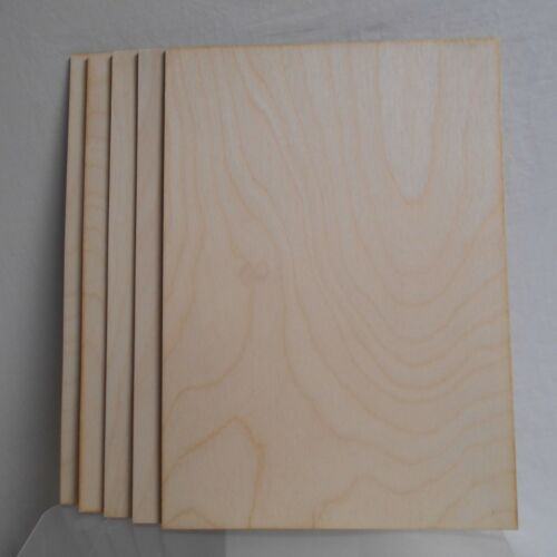 A4 size crafts,modelling. for pyrography 5 X Birch plywood sheets 3mm thick