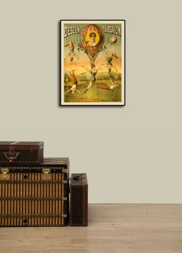1890s Classic French Acrobat Circus Poster 18x24 Miss Stena Descent D/'Absalon