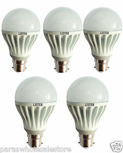 Branded Led Bulbs - 5 LED Bulbs High Quality With Unbreakable Material - SALE