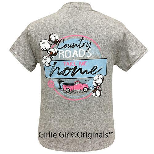 Girlie Girl Originals Country Roads Sport Grey Short Sleeve T-Shirt - 2254