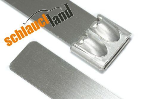 10x bridas de acero inoxidable 12 x 500 mm *** viga reticulada set inoxidable resistente al calor SS