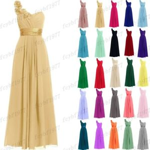 a6553ce2a6b91 Long Chiffon Formal Evening Party Ball Gown Prom Bridesmaid Dresses ...