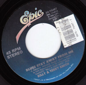 """BILLY & TERRY SMITH - Blues Stay Away From Me 7"""" 45"""