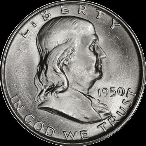 1950-D Franklin Half Dollar Choice BU