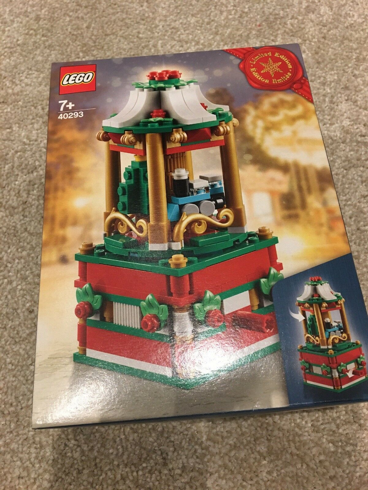Lego 2018 Limited Edition Christmas Carousel, set 40293, Brand New