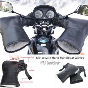 2x-Motorcycle-Bike-Handlebar-Gloves-Hand-Muffs-Cycling-Winter-Thermal-Warm-Mitts