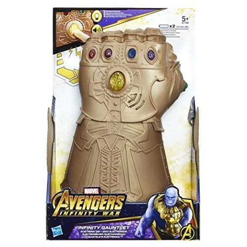 Official Avengers Marvel Infinity War Gauntlet Toy Electronic Kids Light Sound
