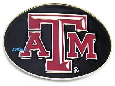 Texas A&M Aggies Official Licensed Black Oval NCAA Team Logo Belt Buckle