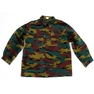 Belgian-Army-Jigsaw-Camo-Shirt-XXXL-Bushcraft-Fishing-Shooting