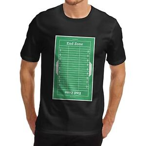 Details about Men's American Football Field Diagram Sports Premium Cotton  T-Shirt