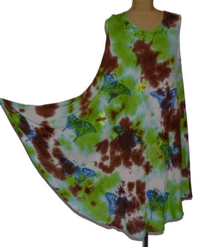 Sommerkleid Tunika Strandkleid Kleid Hippie Boho Batik 38 40 42 44 46 48 N°37.5