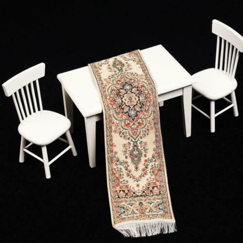 Persian Design Miniature Woven Carpet Elegant Dollhouse Rug Furniture Decor N3M3