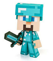 Minecraft Diamond Edition Steve Vinyl 6 Figure W/ Sword - Authentic Brand