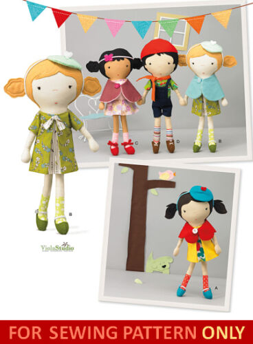 SOFT TOY! MAKE CLOTH BOY /& GIRL DOLLS WITH CLOTHES~OUTFITS SEWING PATTERN