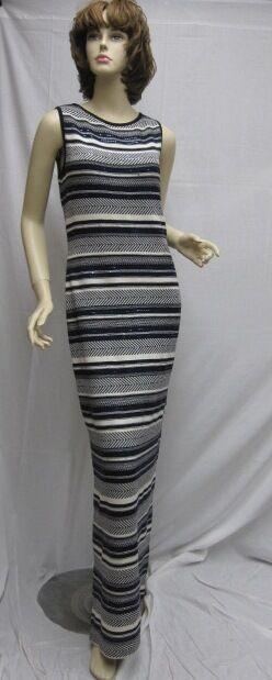 St. John Knit Noche  Nuevo Con Etiquetas Azul Marino blancoo Paillettes Vestido Talla 4 6  tienda de bajo costo