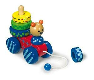 Orso-orsetto-trainabile-da-tirare-cm-14x13x7-con-ruote-e-4-anelli-di-legno