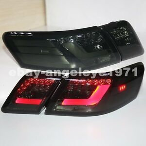 for toyota 2006 2008 year camry v40 led tail lights rear lamps smoke black color ebay. Black Bedroom Furniture Sets. Home Design Ideas