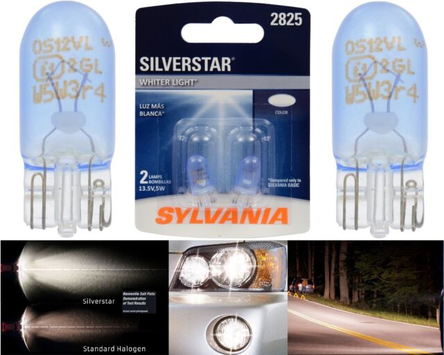 Sylvania Silverstar 2825 5W Two Bulbs License Plate Light Replace Upgrade Stock