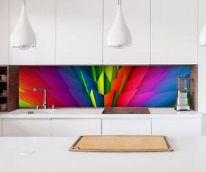 Adesivo Cucina Parete 3D Effetto Colorato Geo Cristalli Lamina ...