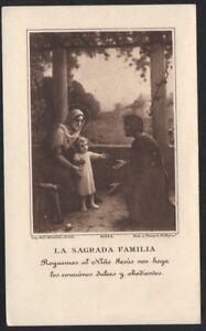 Image pieuse ancianne de la S.Familia santino holy card estampa andachtsbild WTnvqNHN-09095618-828133410