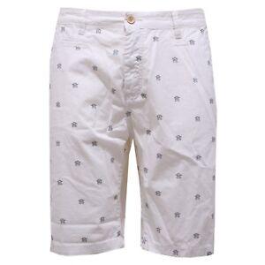 Officina36 Uomo cotone bianco Pantalone 2604y in Bermuda q6SB8w46xE