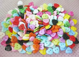 100pcs-10mm-Heart-Mixed-Colors-Resin-Buttons-Fit-Sewing-Scrapbooking-Gel-Spsj