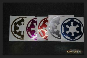TWO-Star-Wars-Imperial-COG-Decalcomania-3-taglie-e-vari-colori-di-cromo-disponibili