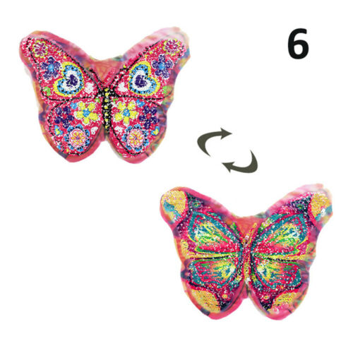 DIY Butterfly Reversible Sequins Clothes Decor Applique Embroidery Sew On Patch