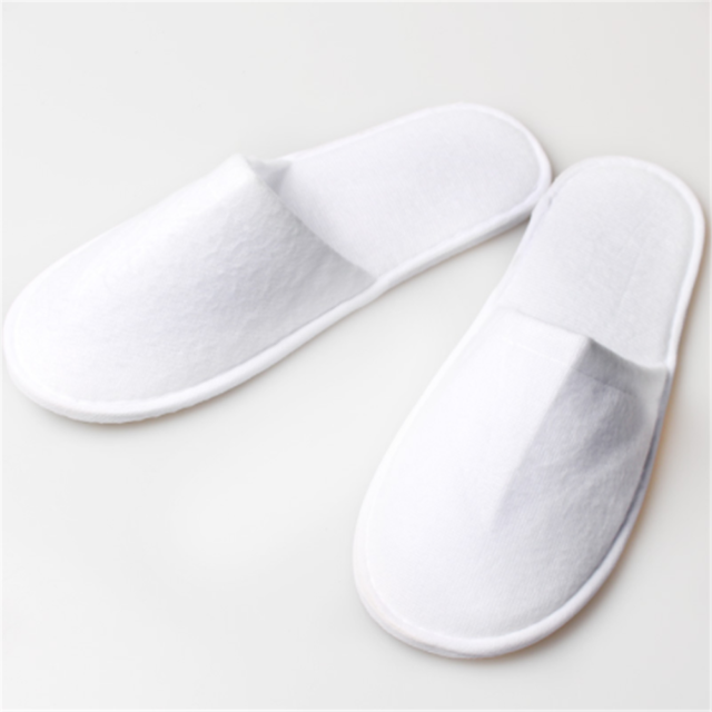 15 pairs SPA HOTEL GUEST SLIPPERS CLOSED TOE TOWELLING DISPOSABLE TERRY TYPE NEW